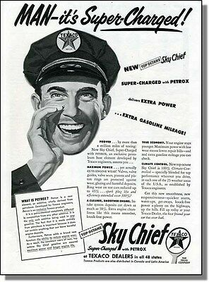 1954 Sky Chief is Super Charged - Texaco Gasoline Ad