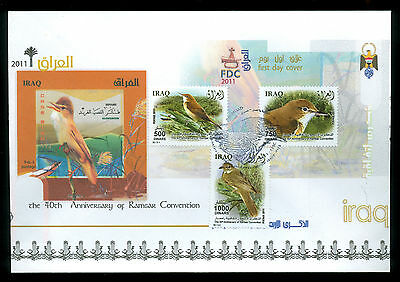 Iraq Irak 2011, Birds, 40th Anniversary Ramsar Convention, FDC 370