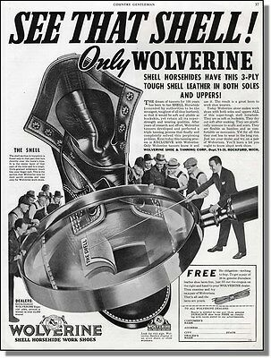 1939 Wolverine Horsehide Work Shoes Print-Ad