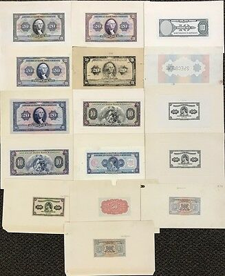 American Bank Note Company Proofs, Specimen Lot of 17