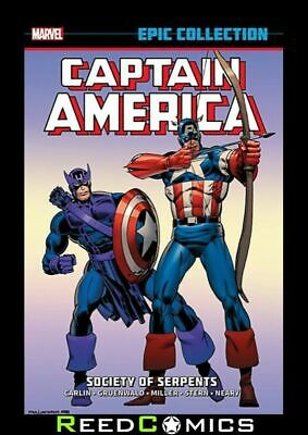 CAPTAIN AMERICA EPIC COLLECTION SOCIETY OF SERPENTS GRAPHIC NOVEL (432 Pages)