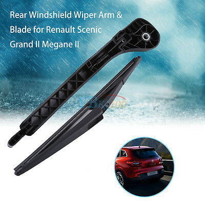 Car Rear Windshield Wiper Arm&Blade Replacement Plastic For Megane III Coupe AF