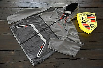 Porsche DRIVER'S SELECTION Windbreaker Jacket Men's Women's Unisex Grey