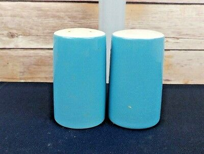 Blue Ceramic Salt and Pepper Shakers - Vintage Retro -  Made in Japan