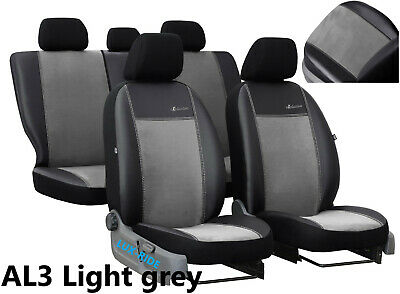 SEAT LEON Mk2 SPORT SEATS 05-12 ECO LEATHER ALCANTRA SEAT COVERS MADE TO MEASURE