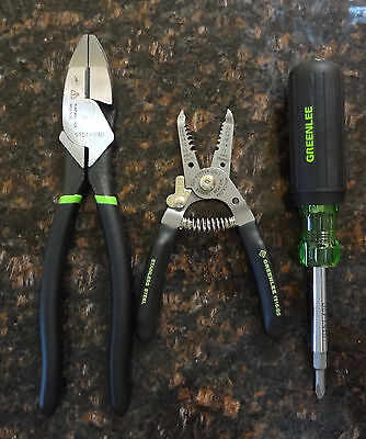 Greenlee Electrician's Wiring Tool Kit (Pliers, Strippers, 6-in-1 Screwdriver )
