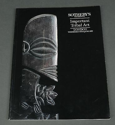 Sotheby's Important Tribal Art, African, London June 1992 w/prices