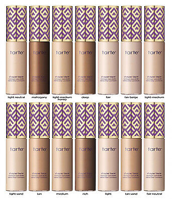 New Tarte Concealer, Tarte Shape Tape Contour Concealer 10ml - Different Shades