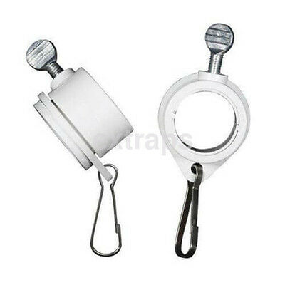 2 Rotating Flag Mounting Rings Ideal for Wood and Metal Flag Poles Hot US