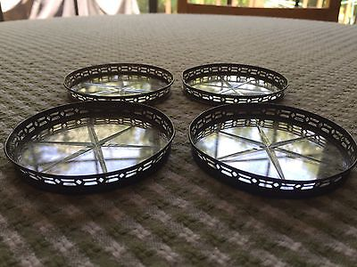 Sterling Silver Starburst Coasters Set Of 4