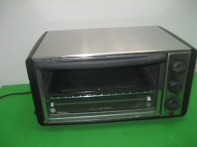 Stainless Steel General Electric Toaster Oven Broiler 1440 Watts Model 169113