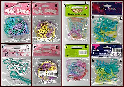 Lot de 12 BRACELETS Silicone FORMES : Hello Kitty, Princesse, Divers (au choix)