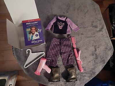 American Girl Singing Star Retired Outfit & Miss Beauty hot iron, curling iron