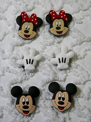 C 510 US Seller New Disney Mickey/Minnie Shoe Charms Will Also Fit Jibitz,Croc