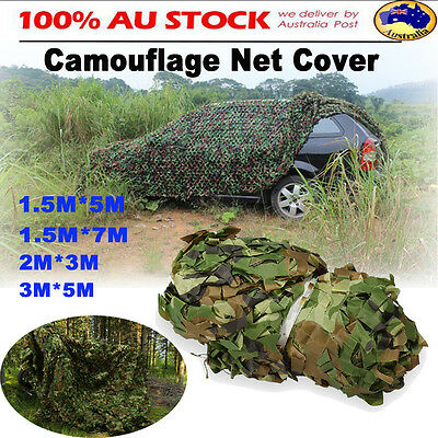 3M 7M Hunting Camping Woodlands Blinds Military Camouflage Camo Net Netting Mesh
