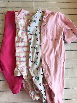 Baby Girls Clothes Bundle 0-3 Months - Girls Sleepsuits Babygrows