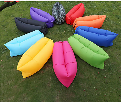 Inflatable Air Sofa Lazy Bed Hammock  Camping Holiday Bag Chair Hangout Festival