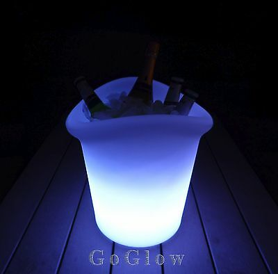 LED Glow Medium Ice Bucket / GoGlow / Colour Changing / Rechargeable