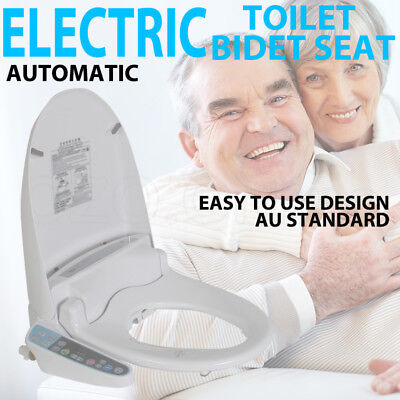 NEW Electric Toilet Bidet Seat Cover Massage Washlet Bathroom Warm Water Dry