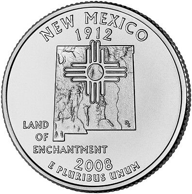 2008 P New Mexico State Quarter BU
