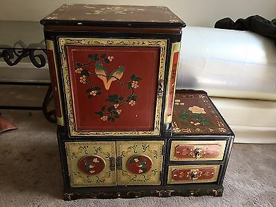 Chinese Style Painted Lacquered Cupboard