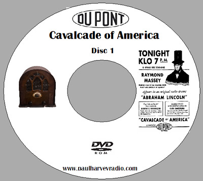 Cavalcade Of America (747 Shows) Otr Mp3 2 Dvd's