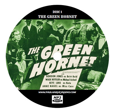 Green Hornet (171 Shows) Old Time Radio Mp3 3-Cd's
