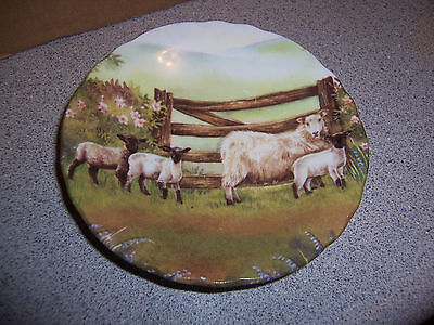 Fenton China Co  Bone China By Ann Blockley Butter Pat Dish Billy Goats By Gate