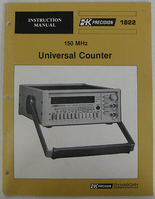Instruction Manual For BK Precision1822 Universal Counter