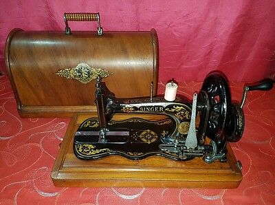 Antica macchina cucire Singer 12k violino del 1880' old sewing machine