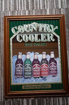 Vtg Country Coolers Wine Coolers California Advertising MIRROR Barware Mancave