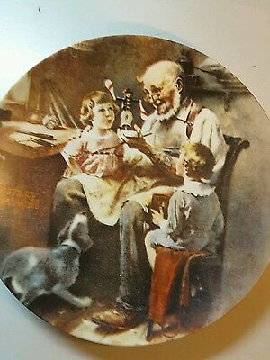 """1977 Norman Rockwell's collector plate """" The Toy Maker"""""""