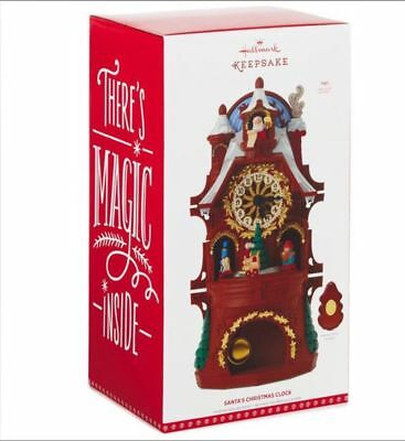 Hallmark 2017 Santa's Christmas Clock Magic Motion Musical Ornament Tabletop