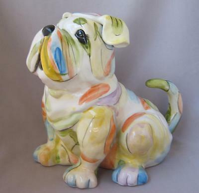 Blue Sky Clayworks PASTEL COLOR BULLDOG DOG Tea Pot