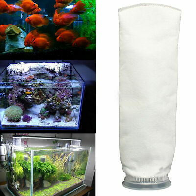 "150um 4 ""x 15'Aquarium Fish Tank Marine Sump Felt Pre Filter Sock Bag Holder"