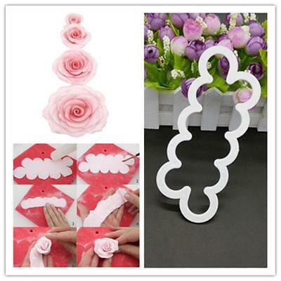 3D Rose Flower Silicone Mold Fondant Cake Cookie Chocolate Décoration Tool