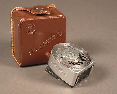 Leica Meter 2 Selenium Cell Clip-on Light Meter with Leather Case