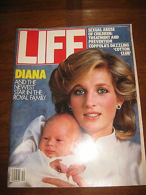 LIFE Dec. 1984 Princess Diana Prince Harry Wales Baby Prince William Prince Char