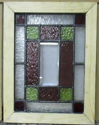 VICTORIAN OLD ENGLISH LEADED STAINED GLASS WINDOW Victorian Geo. 9.25 x 12.25