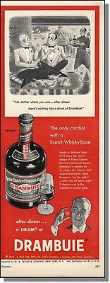 1954 R. Taylor comic art Drambuie Scotch Whisky ad