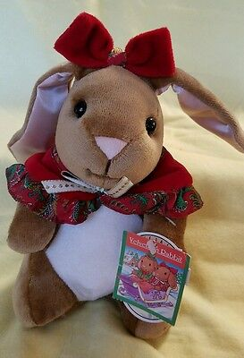 VTG 1985 Rabbit Ears VELVETEEN RABBIT Plush Doll BUNNY Girl Magic is Love