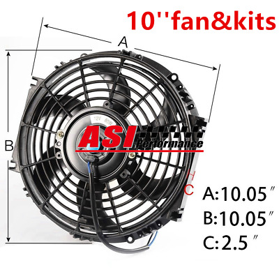 """ASI 16"""" INCH PULL/ PUSH RADIATOR Electirc Thermo Curved Blade FAN + MOUNTING"""