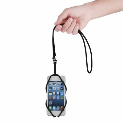 Universal Silicone Lanyard Case Cover Holder Sling Neck Strap For Mobile Phone L