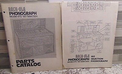 (2) Rock-Ola Jukebox 470 Manuals, Wiring Schematic & Parts Catalog
