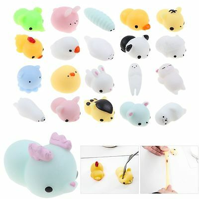 1x White Soft Mini Seal Adult Stress Autism Mood Relief ADHD Squeeze Squishy Toy