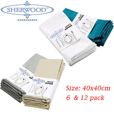 100% Cotton Napkins 15'' x 15'' Hotel Wedding Party Dinner Table Cloth 6/12 Pack