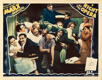 A Night at the Opera 11 x 14 Lobby Card LC Marx Brothers Harpo Chico Groucho