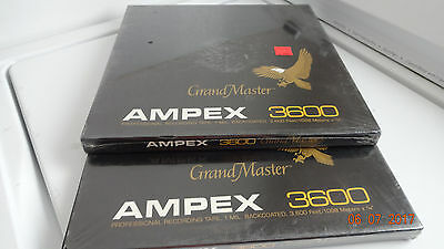 3 New Ampex Grand Master 3600 Professional Sound Recording Tapes Free Shipping