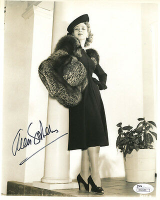 (SSG) ANN SOTHERN Signed 8X10 Photo with a JSA (James Spence) COA
