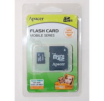 Apacer Flash Micro SD SDHC Memory Card Adapter w/Hard Case